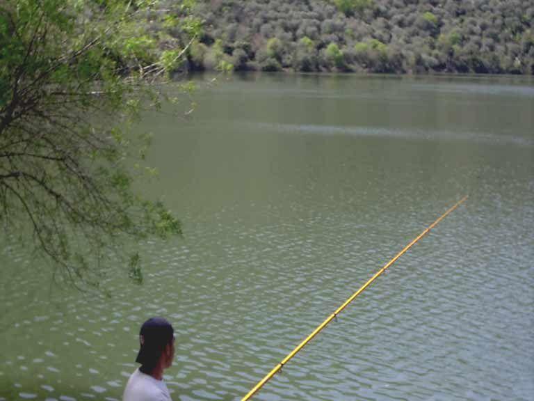 Zona de pesca en las Arribes del duero